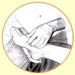 tekening voet
